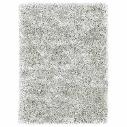 Alfombra de pelo largo grande de diseño moderno en seda y algodón de colores - Etesia