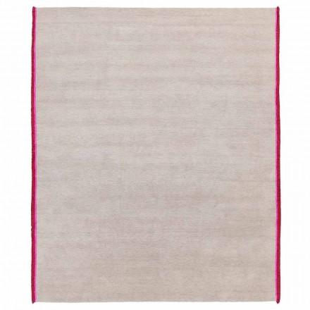 Alfombra de diseño moderno en viscosa y algodón con franjas de colores hechas de seda - Garbino