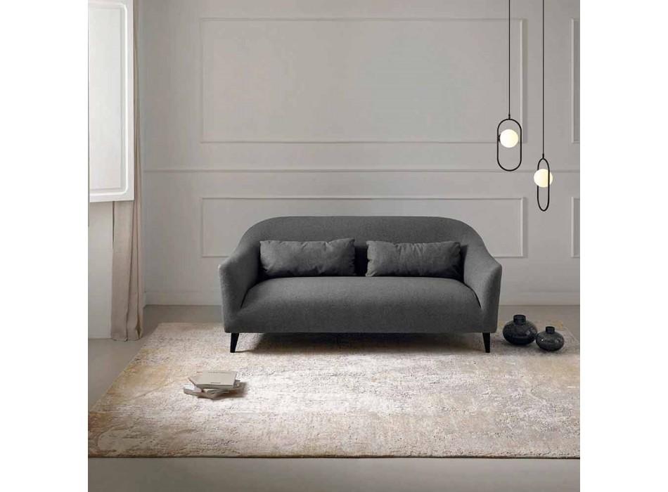 Alfombra elegante de diseño moderno para sala de estar en seda de bambú y lana - Pasha