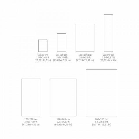 Alfombra moderna rectangular de vinilo de colores para sala de estar - Frisca