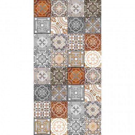 Alfombra rectangular de vinilo con fantasía vintage revisitada moderna - Dimetra