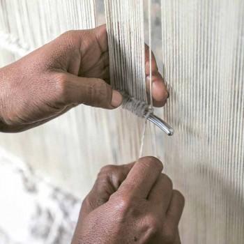 Alfombra de salón hecha a mano en viscosa de alta calidad tejida en India - Bonnet