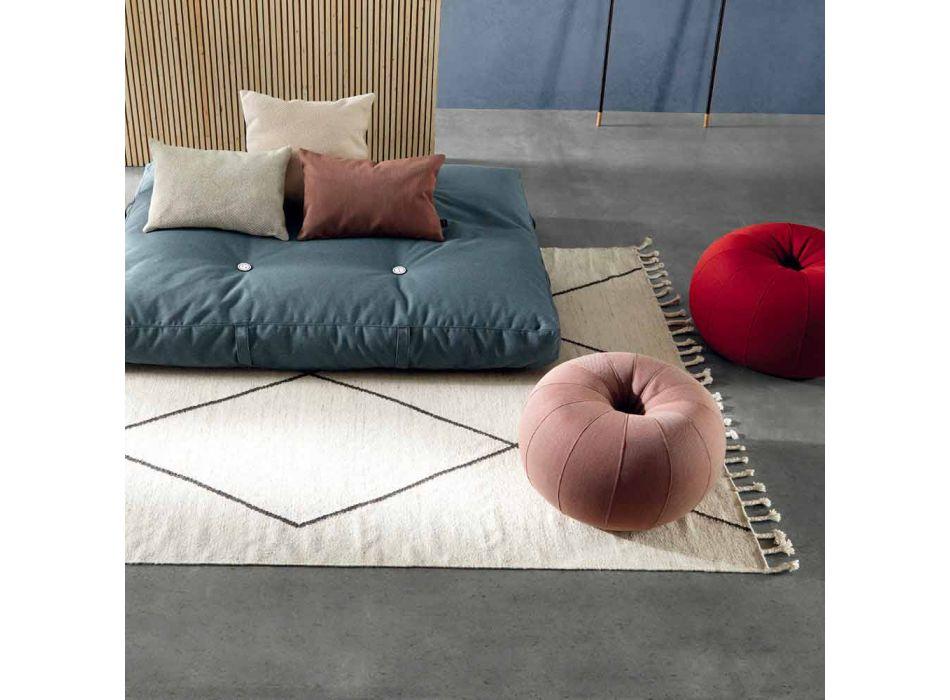 Alfombra de salón de lana y algodón con diseño geométrico moderno - Metria