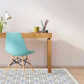 Alfombra moderna para sala de estar en PVC y poliéster con fantasía - Leno