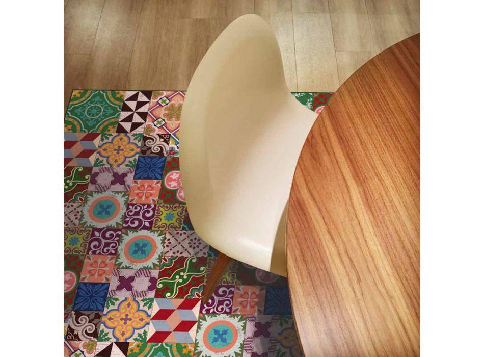 Alfombra moderna de vinilo para sala de estar con fantasía colorida - Timio