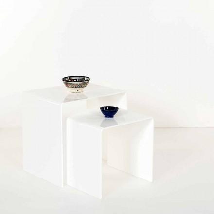 Mesas de diseño en plexiglás coloreado, producidas en Italia, Spinoso.