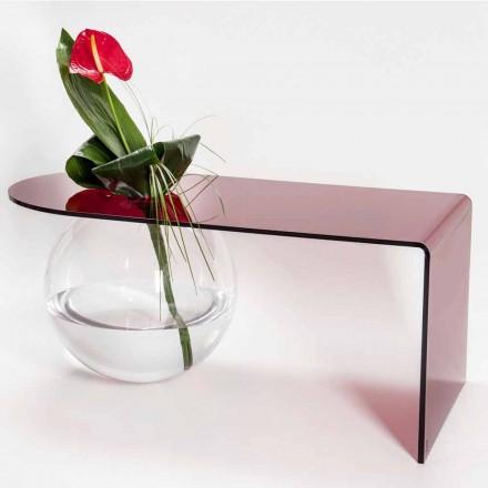 Moderna mesa de puente de plexiglás hecha en Italia, Bolly