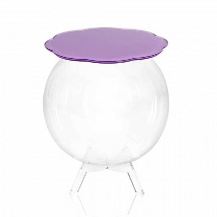 Biffy mesa redonda / contenedor en color lavanda, diseño moderno