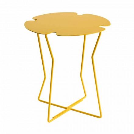 Mesa de centro para salón en metal, diseño de varios colores - Kathrin