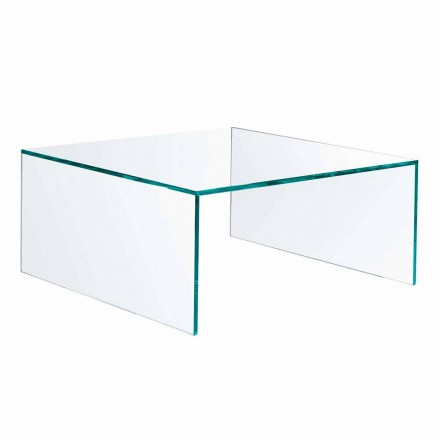 Mesita rectangular de vidrio extraligero Made in Italy - Nodino
