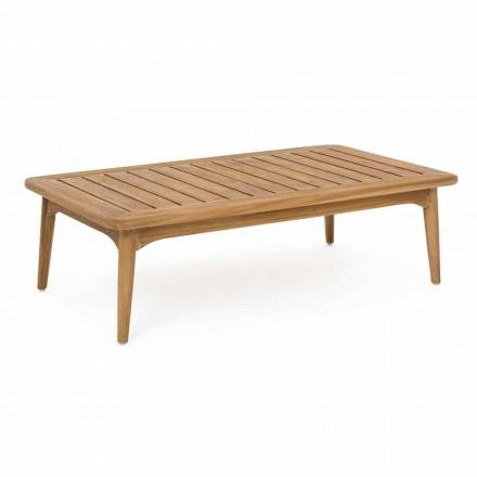 Mesa al aire libre moderna de madera de teca de Homemotion - Luanaedmea