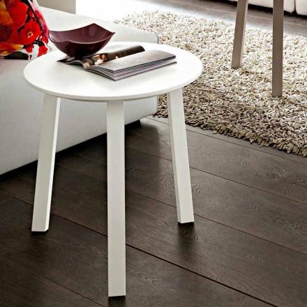 Mesa de centro con tapa redonda en Fenix Made in Italy, Precious - Tobiko