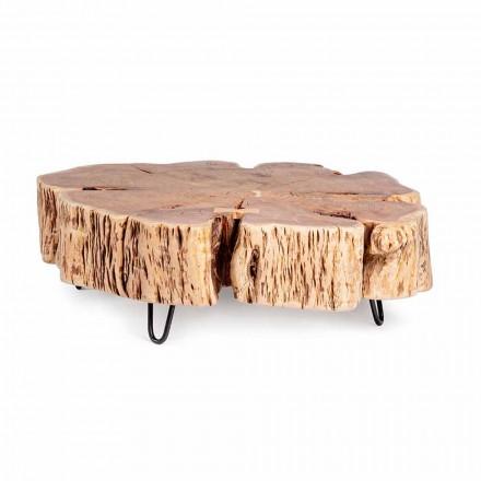 Mesa de centro Homemotion con tablero en forma de madera de acacia - Nabucco