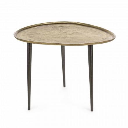 Mesa de centro de diseño Homemotion con tapa de aluminio - Yamila