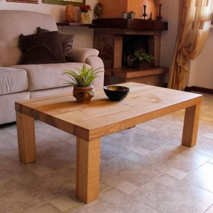 Mesa de centro en madera maciza de fresno Made in Italy - Nicea