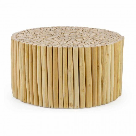 Mesa de centro redonda formada por ramas de teca Homemotion - Sprig