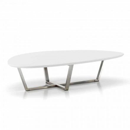 Mesa de salón moderna en forma de tablero de MDF blanco - Listo