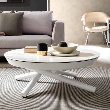 Mesa de centro de cerámica convertible en mesa de comedor, Made in Italy - Azelio