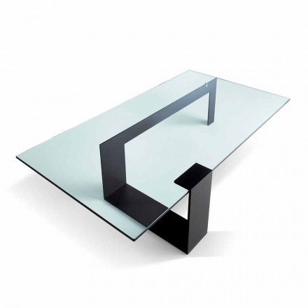 Mesa de centro de vidrio extralight de diseño moderno hecha en Italia - Scoby