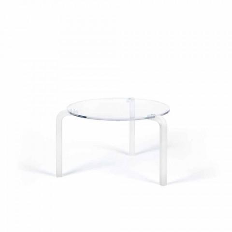 alta mesa redonda moderna en metacrilato transparente Armando