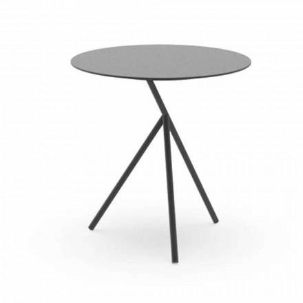 Mesa de centro redonda para jardín en aluminio blanco o carbón - Sofy by Talenti