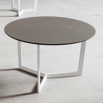 Mesa de centro redonda con tapa de Hpl Made in Italy - Mina