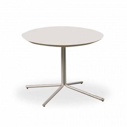 Mesa de centro redonda en MDF blanco de diseño moderno 2 tamaños - Geone