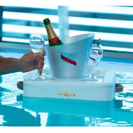 Mesita bandeja de diseño flotante de ecopiel náutica Trona