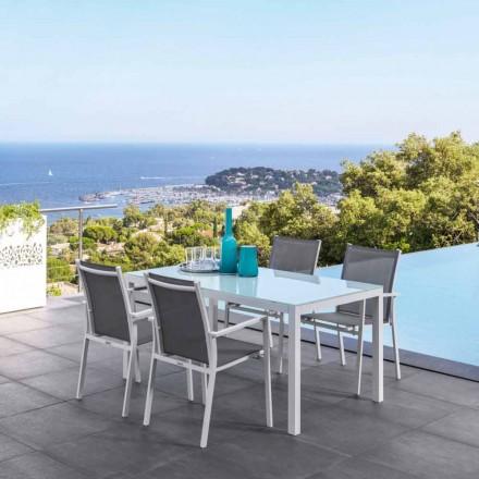 Mesa extensible de jardín de Aluminio modelo Maiorca