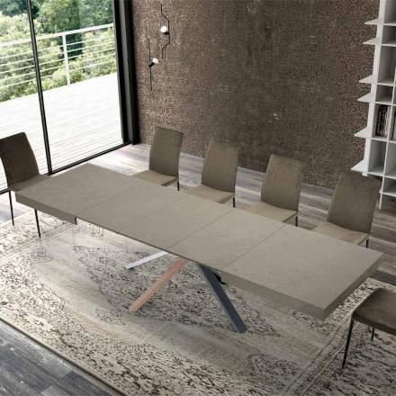 Mesa de comedor extensible en madera de diseño moderno hasta 3,1 m - Argentario