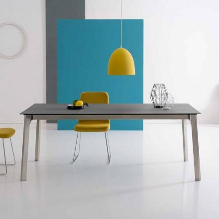 Mesa extensible de diseño en aluminio, made in Italy - Arnara