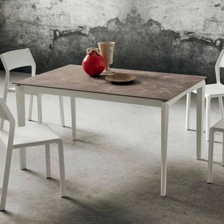 Mesa extensible hasta 240 cm con tablero de Hpl Made in Italy - Fantástica
