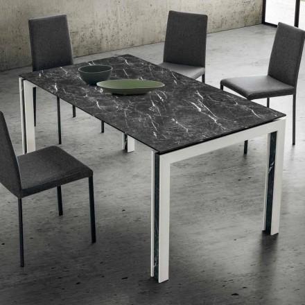 Mesa extensible hasta 240 cm en laminam, madera y Hpl Made in Italy - Polo