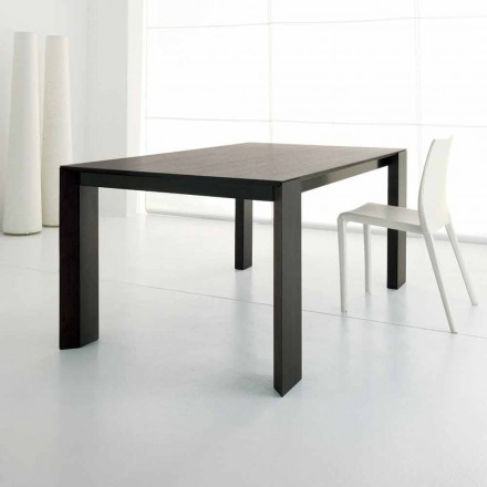 Mesa extensible hasta 245 cm en madera de roble wengué de Design - Ipanemo