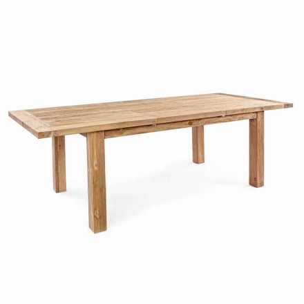 Homemotion - Mesa de jardín extensible de madera de teca Hunter de hasta 250 cm