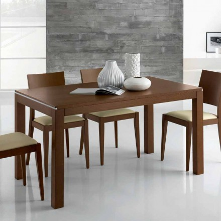 Mesa de diseño extensible de hasta 350 cm en madera de fresno Made in Italy - Ketla