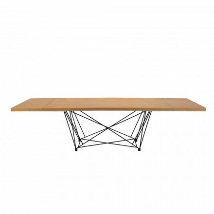 Mesa Extensible Moderna 14 asientos con Tapa Laminada Hecho en Italia -Ezzellino