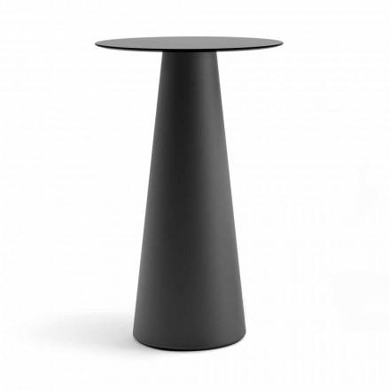 Mesa alta para exterior con tapa redonda en Hpl Made in Italy - Forlina