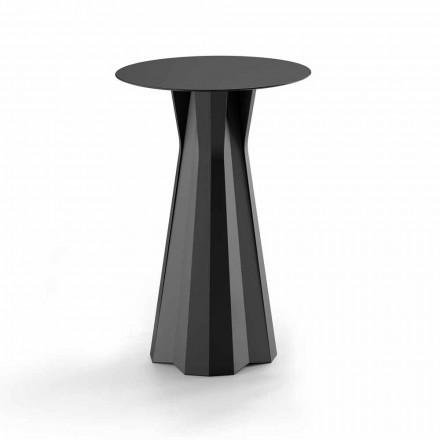 Mesa alta de polietileno con tapa redonda de Hpl Made in Italy - Tinuccia