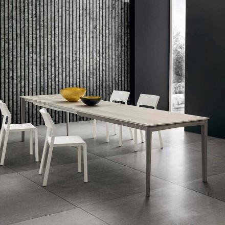 Mesa de cocina extensible hasta 240 cm en Hpl Made in Italy - Fantástica