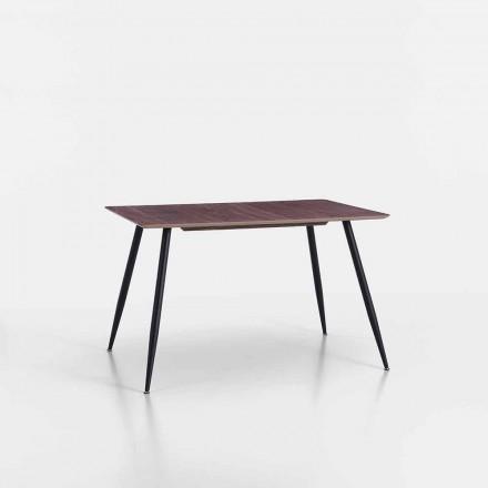Mesa de Cocina de Diseño Moderno en Mdf y Metal Negro Mate - Foulard