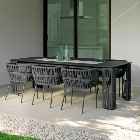 Mesa de jardín Cliff extensible hasta 300cm, Talenti by Palomba