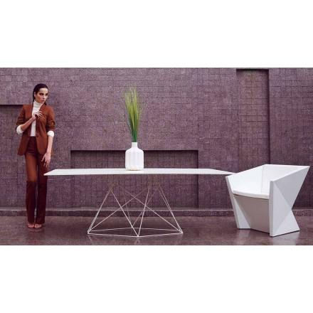 Mesa de jardín moderna Faz by Vondom en polipropileno y acero inoxidable