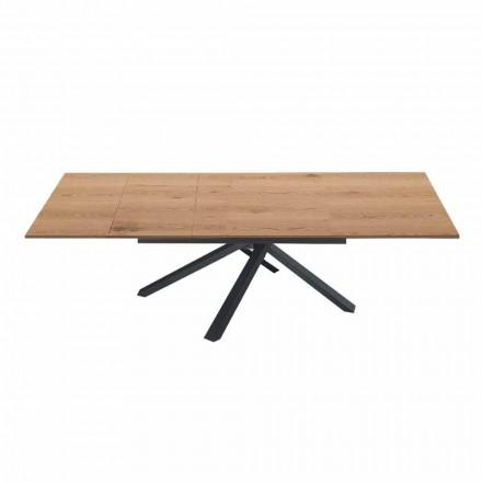 Mesa de comedor extensible hasta 260 cm en madera de diseño moderno - Gabicce