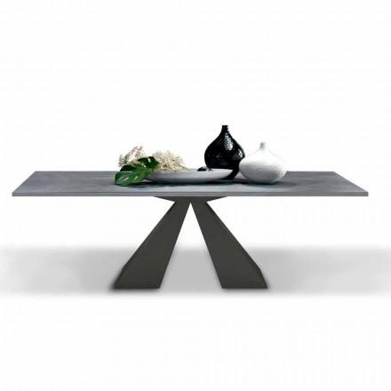 Mesa de comedor extensible hasta 300 cm en laminado HPL Made in Italy - Dalmata
