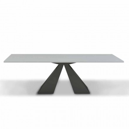 Mesa de comedor extensible a 300 cm en melamina Made in Italy - Dalmata