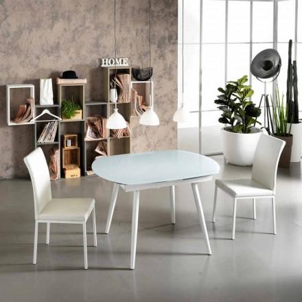 Mesa de comedor extensible con tablero de madera Japan New