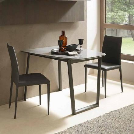 Mesa de comedor extensible hasta 170 cm en cerámica Made in Italy - Tremiti