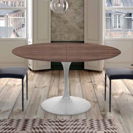 Mesa de comedor extensible hasta 170 cm en laminado Made in Italy - Dólares