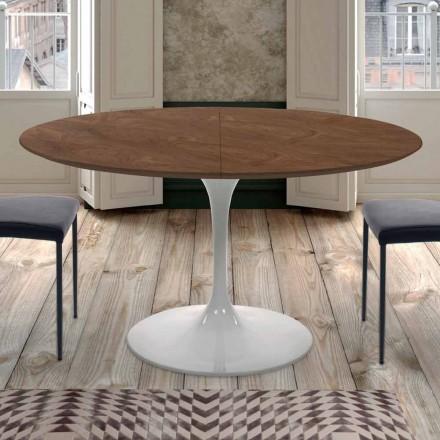 Mesa de comedor extensible hasta 170 cm en madera Made in Italy - Dólares